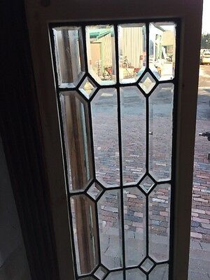 Sg 1181 Antique All Beveled Transom Window 14.125 X 63 3/4""