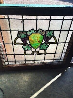 Sg 567 Antique Wine Cellar Grape Design Stainglass Window 3