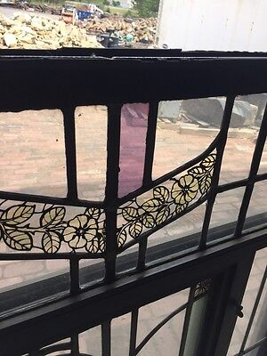 Sg 42 Vintage Stainglass Window In Thermal Frame 4
