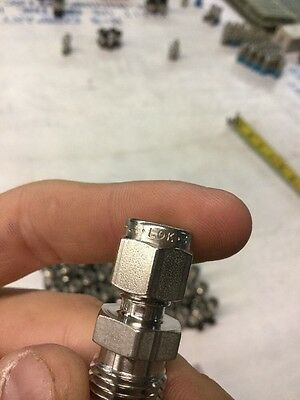"""Parker A-LOK 3MSC4N-SS Male Connector 3/16"""" Tube X 1/4"""" MNPT Fitting (Lot of 2)"""