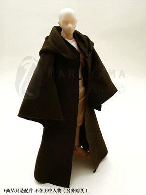 1:12 Scale Brown Cape Cloak  For Bandai SHF figma Male Body Doll no figure