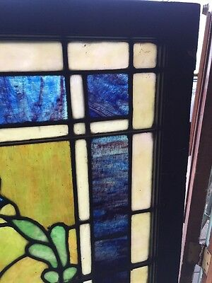 Sg 1026 Antique Torch Stainglass Window Landing