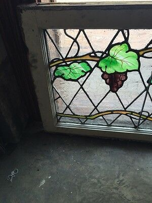 Sg 748 Antique Grape Vine Window With Painted Grapes 2