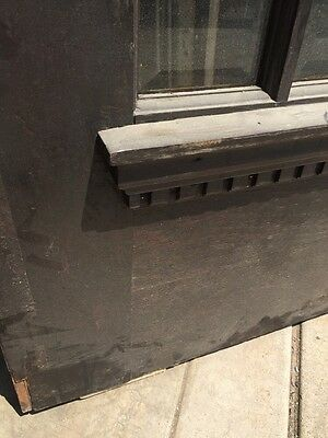D 225 Antique Oak Painted Townhouse Entrance Door Beveled Glass 3