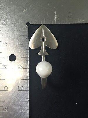 Satin Nickel Decorative Spades Hooks