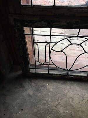 Sg 845 2 Available Price Separate Antique Leaded Glass Window 5