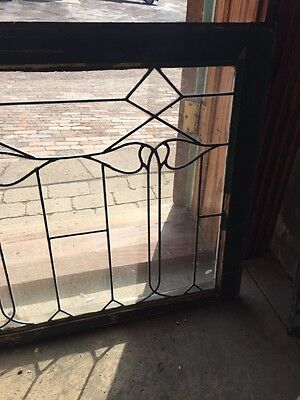 Sg 652 Antique Leaded Glass Window Six Leaves 4