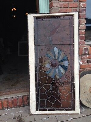 St 67 Antique Stainglass Window Turn-Of-The-Century With Rondelle 5