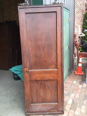 R D 13 Antique Oak Single 2 Panel Pocket Door 5