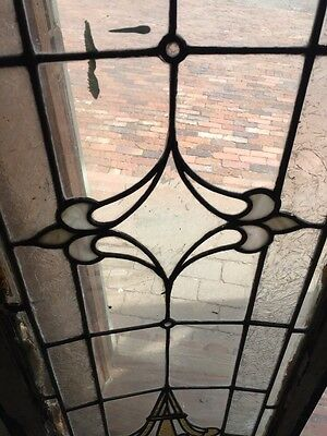 Sg 740 Antique Transom Window Stainglass 18 X 60 4