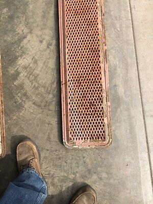 "Rt 5 2 Available Priced Each Antique Cast-Iron Radiator Cover 61"" X 10"" 7"