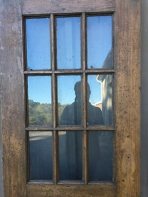Cm 85 Antique Oak Entrance Door Or Passage Door 29.5 X 78 4