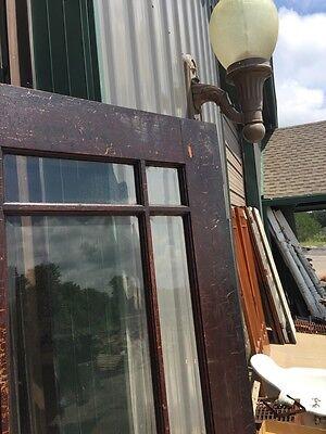 D 225 Antique Oak Painted Townhouse Entrance Door Beveled Glass 9