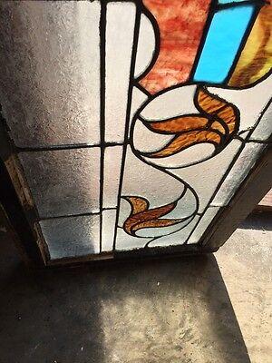 """Sg 818 Antique Transom Window 16"""" X 42"""" 4"""