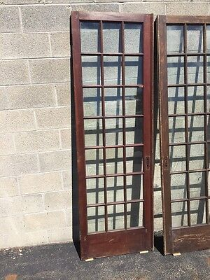 "Cm 21 For Available Price Separate Antique Pine French Door 27"" X 84 X11 5/8"" 2"