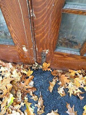 Pd1 Pair Antique Pine Wood Grain Interior French Doors Oversize 2