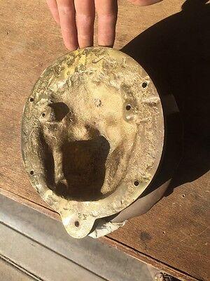 Antique Lion Face Doorknocker 4