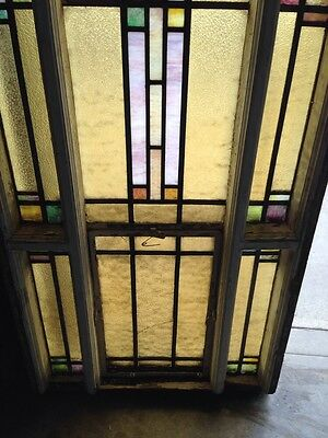 Number Three Youngstown's Finest Stained Glass Woodframe Antique Windows 4