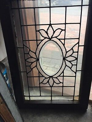 Sg 540 Matched Pair Antique Oval Beveled Center Windows 2