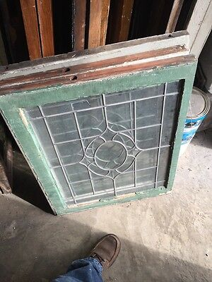 Sg 655 Three Available Price Each Antique Portable Windows Leaded Glass 8