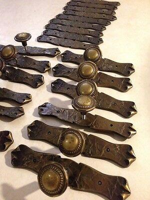 Spanish Victorian Design Textured Metal Drawer Pulls 9 & Hardware Plates 22 3