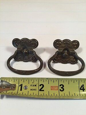 Antique metal drawer ring pull 2