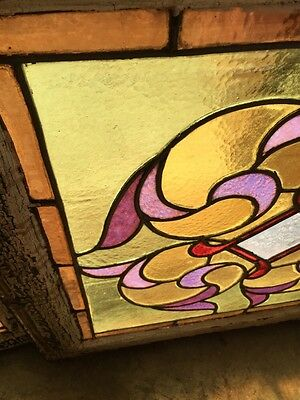 Sg 816 Three Available Priced Each Antique Stainglass Window 8