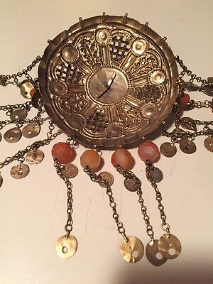 Antique Greek Gilded Belt W. Pendant Ahati Stones - Over 100 Years Old! 10