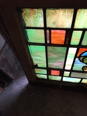 Sg 678 Two Available Priced Each Antique Stainglass Windows Tree 5