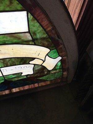Sg 672 Antique Gothic Arch Top Stainglass Window Two Available Price Each 4
