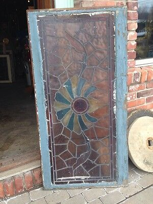 St 67 Antique Stainglass Window Turn-Of-The-Century With Rondelle 6