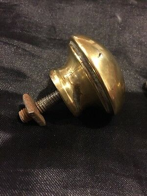 Two Shabby Chic Antique Brass Knobs