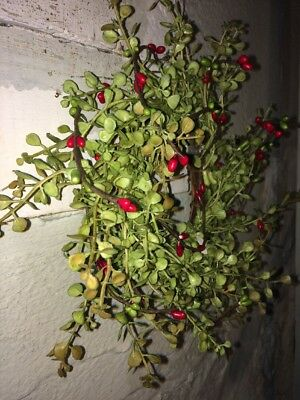 """Set of 50 ~ 7"""" 7 inch CHRISTMAS RED/GREEN Pip Berry Garland Picks Country Craft 6"""