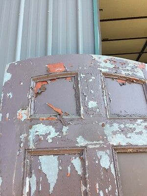 D 204 Antique Arch Top Galvanize Steel Entrance Door 2