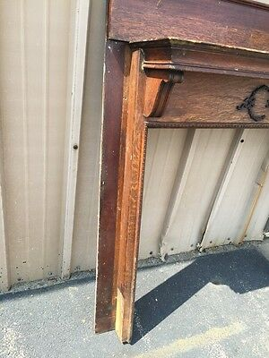 M 38 Antique Oak Fireplace Mantle Quartersawn 2