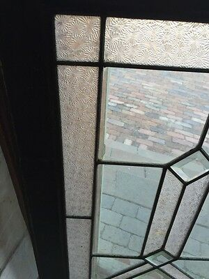 Sg 620 Antique Textured And Beveled Glass Transom Window 5