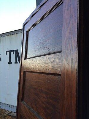 "A R 20 Antique Five Panel Single Oak Pocket Door 30"" X 84 5"