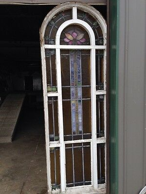 Number Three Youngstown's Finest Stained Glass Woodframe Antique Windows 10