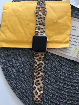 Printed Silicone Strap for Apple Watch 38mm/40mm 42mm/44mm Sport band Wristband 4