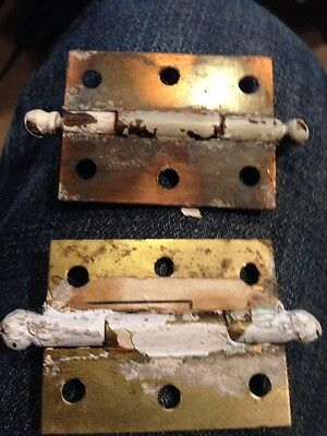 "D 41 One Pair Matching Hinges 2.25"" X 1 And Three-Quarter Inch 3"