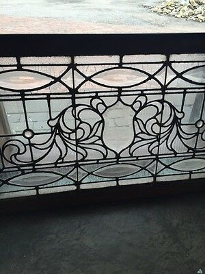 "Sg 749 Antique Transom Window 22"" X 42.25"" Beautiful 3"