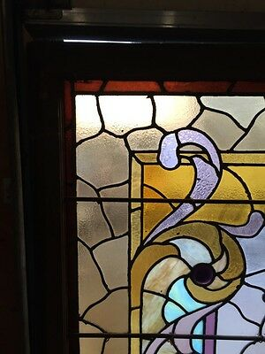 A.M. Six Antique Stainglass Landing Window Victorian 2