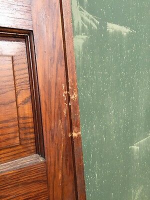 R D 23 One Antique Oak Raise Panel Pocket Door 4