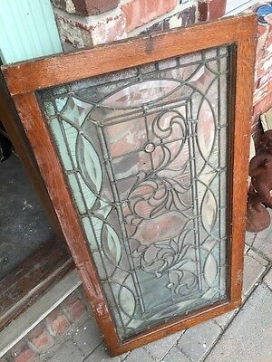"Sg 749 Antique Transom Window 22"" X 42.25"" Beautiful 10"