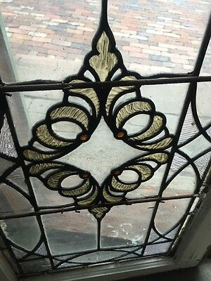 Sg 849 Antique Stain Glass Textured Glass Window 4