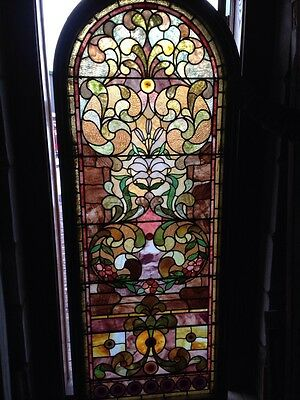Sg 89 Antique Rudy  Brothers Landing Window With Jewels 10
