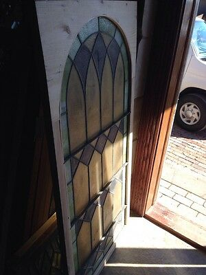 Antique Arch Top Window Sg 137 28.625 X 58 And Three-Quarter