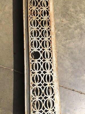 "Rta 12 Decorative Antique Cast-Iron Radiator Cover 48"" X 7"" 3"