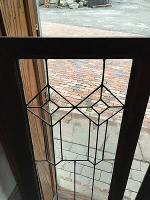 Sg 363 One Pair Antique Leaded GlassCabinet Doors Or Windows 2