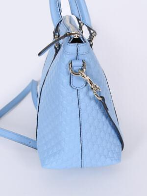 7c222062135 ... NEW Gucci 449656 Leather Micro GG Medium Convertible Purse Handbag 3